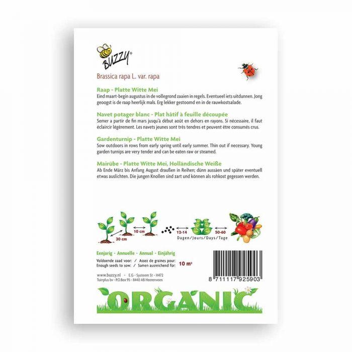 Buzzy® Organic Mairübe Hollandische Weiße