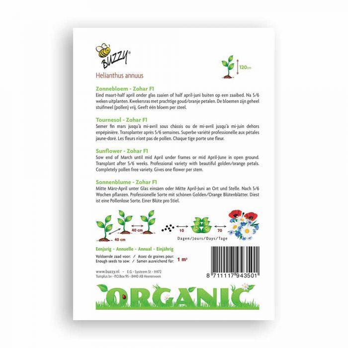 Buzzy® Organic Sonnenblume Zohar F1(BIO)