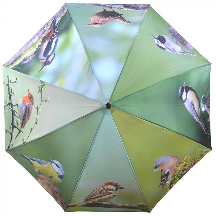 Regenschirm mit Gartenvögeln