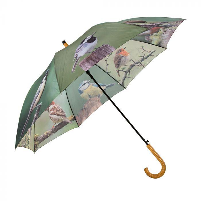 Regenschirm mit Gartenv�geln