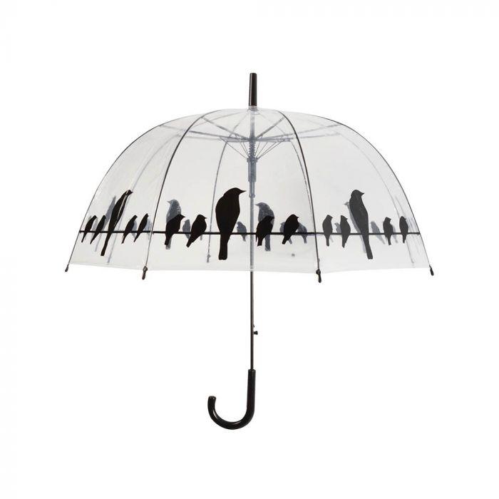 Regenschirm mit Vogelsilhouette