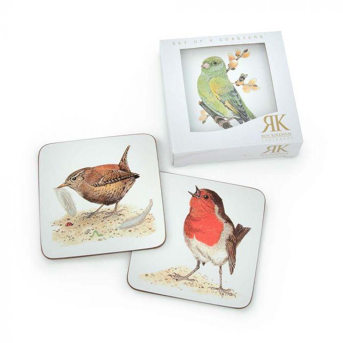 Untersetzer mit Vögeln, 6er Set (Roy Kirkham)