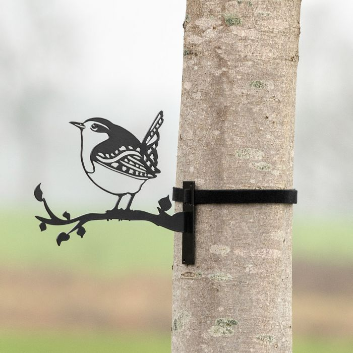Metallsilhouette – Zaunkönig