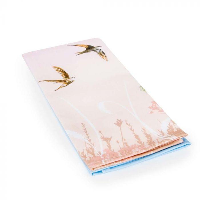 """Geschirrtuch """"Schwalben"""" pink & blau (Roy Kirkham)"""