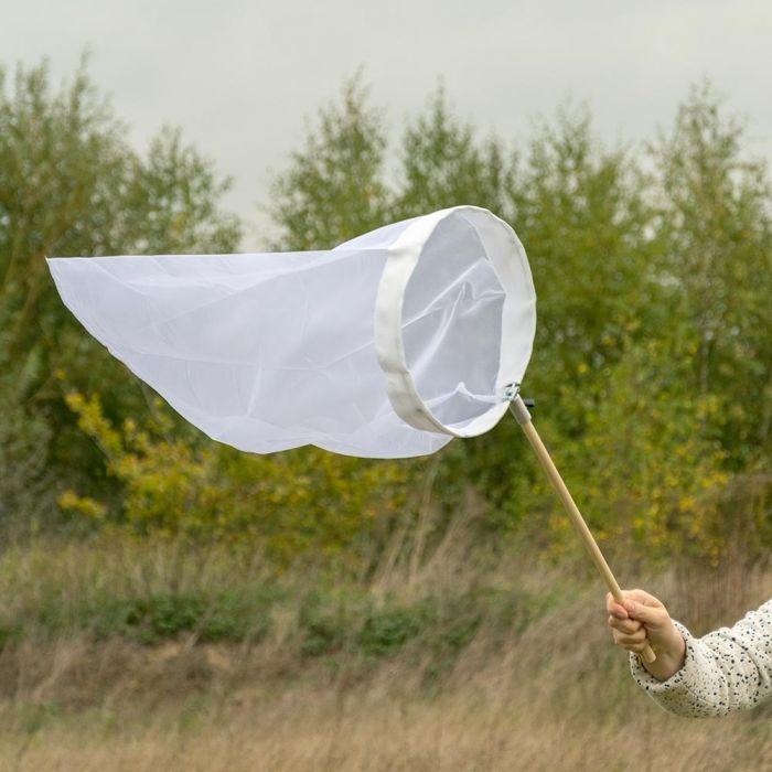 Schmetterlingsnetz weiss 30 cm - aufklappbarer Bügel