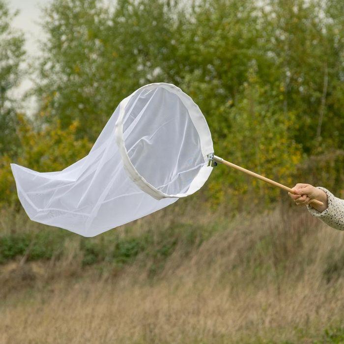 Schmetterlingsnetz weiss 50 cm - aufklappbarer Bügel