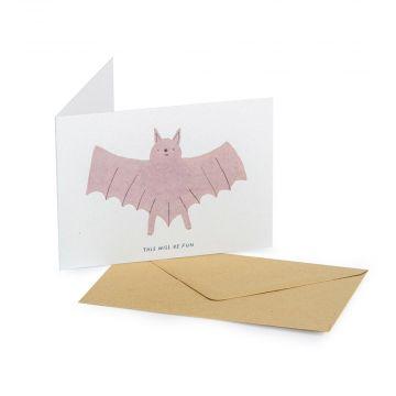 Grußkarte Fledermaus – Goodness Gang
