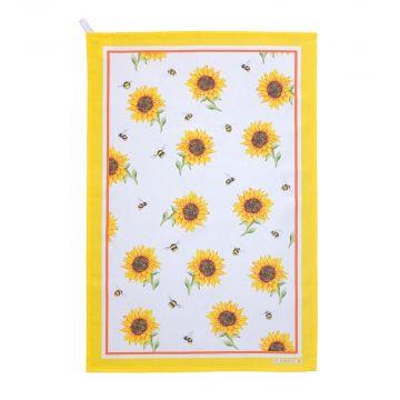 Geschirrtücher mit Hummeln und Sonnenblumen, 2er-Set (Roy Kirkham)