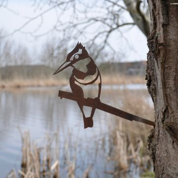 Eisvogel aus Metall