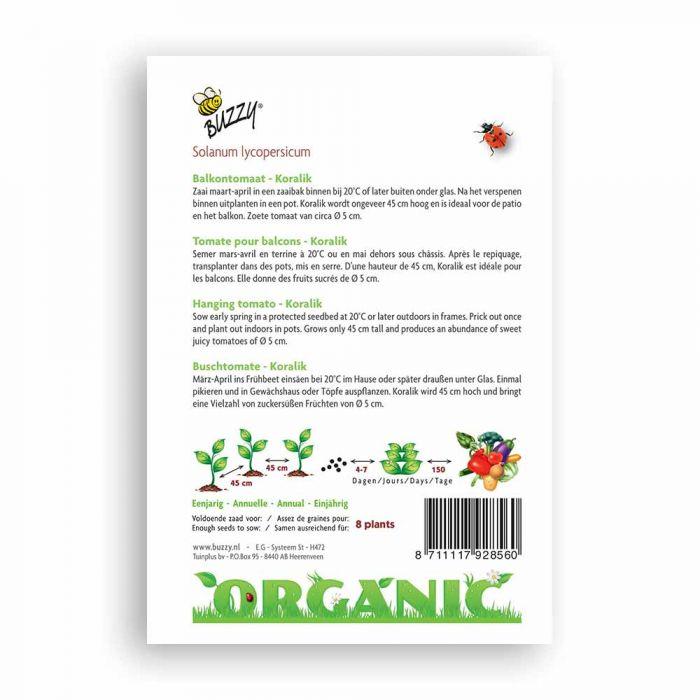 Buzzy® Organic Buschtomate Koralik(BIO)