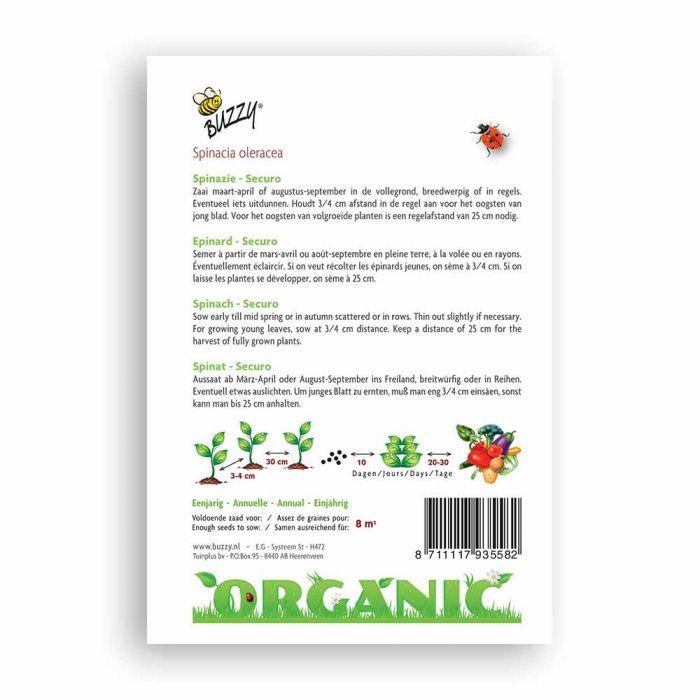 Buzzy® Organic Spinat Securo(BIO)