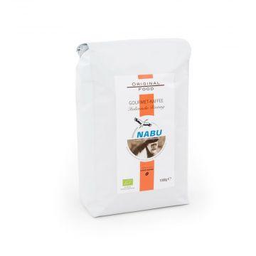 NABU Gourmet-Kaffee, italienische Röstung, ganze Bohnen, 1000 g