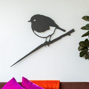 Metalbird XXL Wanddekoration Rotkehlchen
