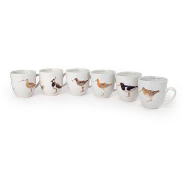 Tassen-Set-Wiesenvögel