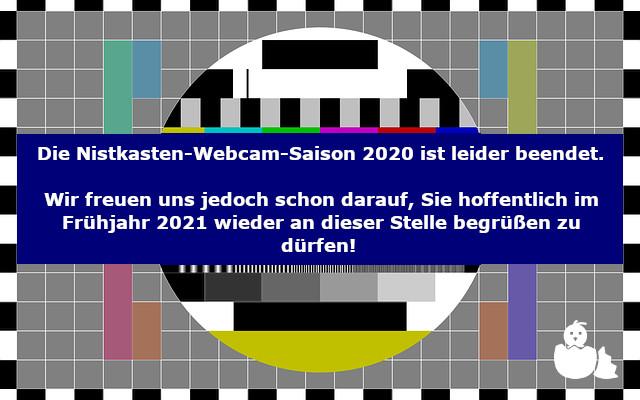 Webcam-Saison für dieses Jahr beendet.